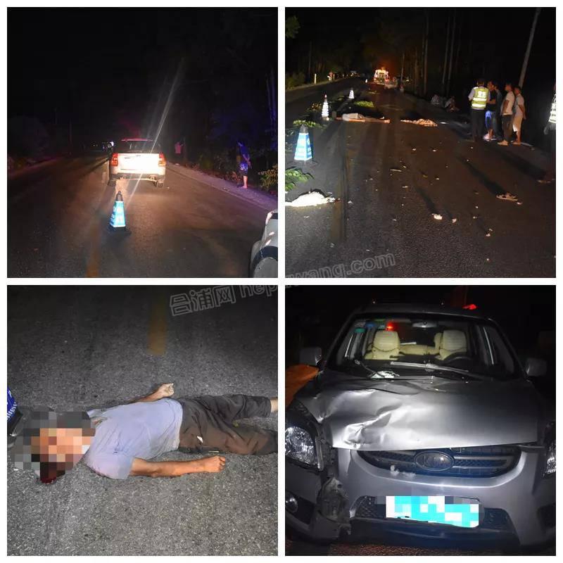 合浦白沙:一男子横穿马路遇上司机无证驾驶,当场死亡...