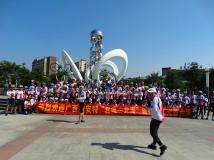 还珠广场偶遇捷安特自行车队风采